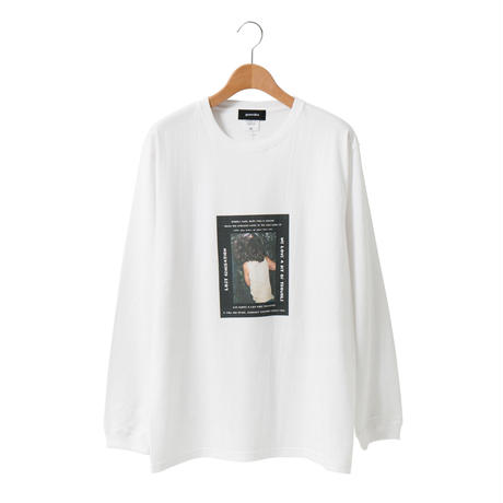 Photo Print LS T-shirt / White