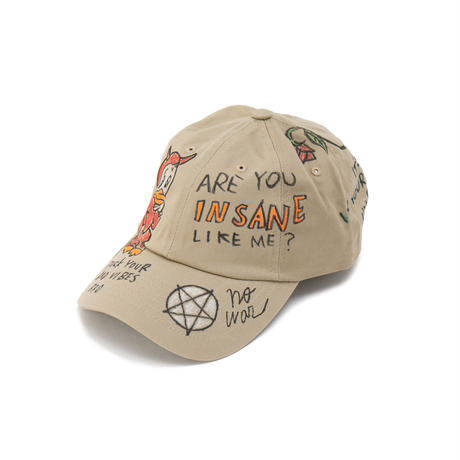 Hand Painted Cap / No.20