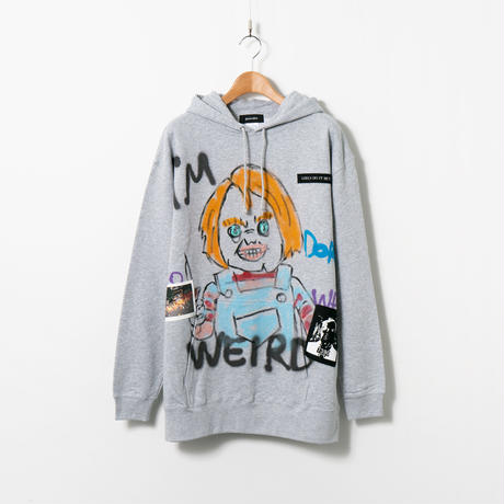 Hand Painted Over Hoody / Gray / No.25
