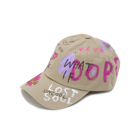 Hand Painted Cap / No.23