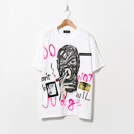 【納期:約1週間】Hand Painted T-sh / White / No.162