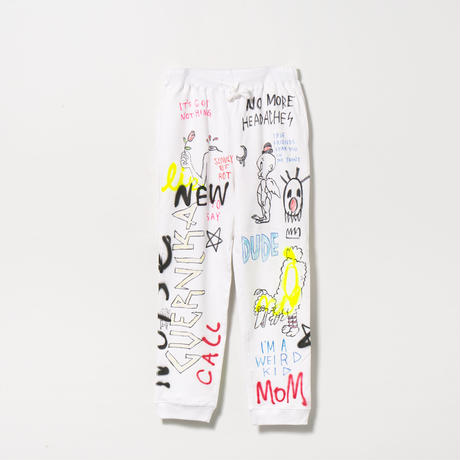 Hand Painted Pants (ALL) / White / No.1