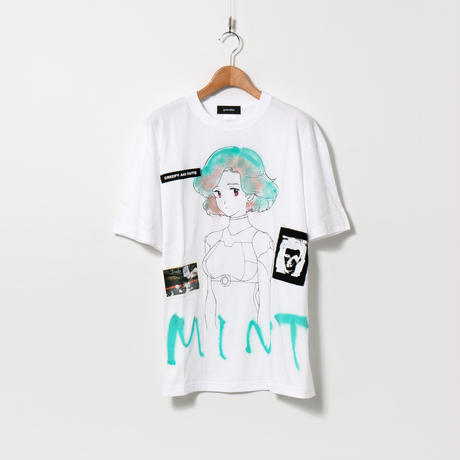 Hand Painted T-sh / MONOPHOBIA / White / MINT / XL