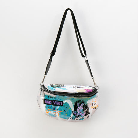Hand Painted Shoulder Bag / No.1