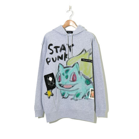 【期間限定】Hand Painted Over Hoody (Glitter Ver.) / Gray / No.4