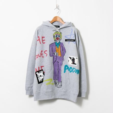 Hand Painted Over Hoody / Gray / No.65