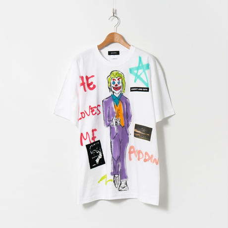 Hand Painted T-sh / White / No.82