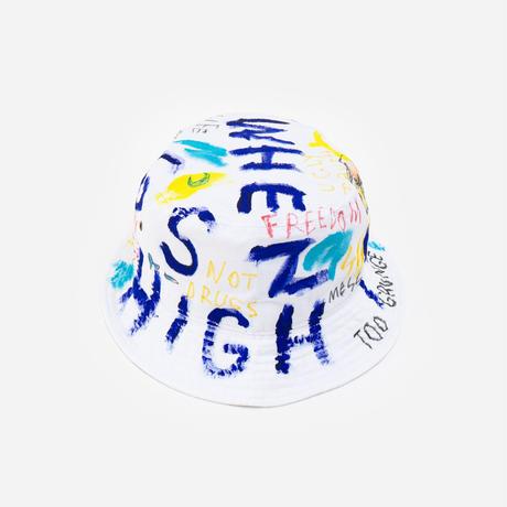 【納期:約1週間】Hand Painted Hat / No.5