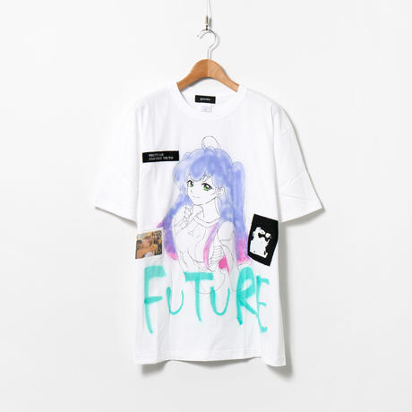Hand Painted T-sh / MONOPHOBIA / White / FUTURE / XXL