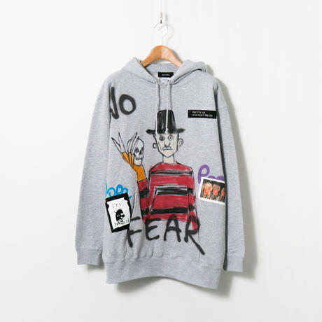 Hand Painted Over Hoody / Gray / No.26