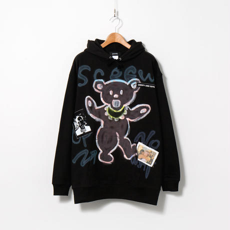 Hand Painted Over Hoody / Black / No.94