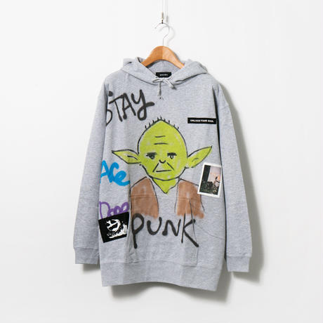 Hand Painted Over Hoody / Gray / No.81