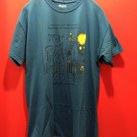 【USED 古着】プリントTシャツ ブルー 青 used0005