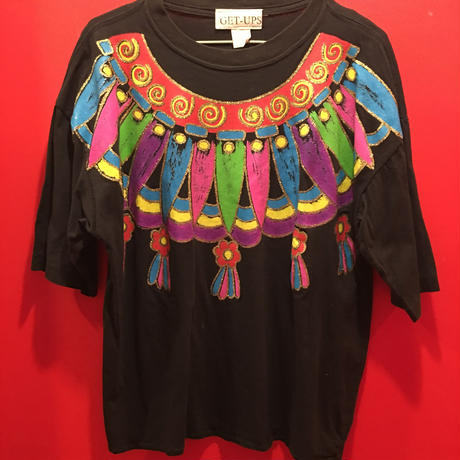 【USED 古着】ハンドメイドプリントTシャツ 手描き 1482901252-29