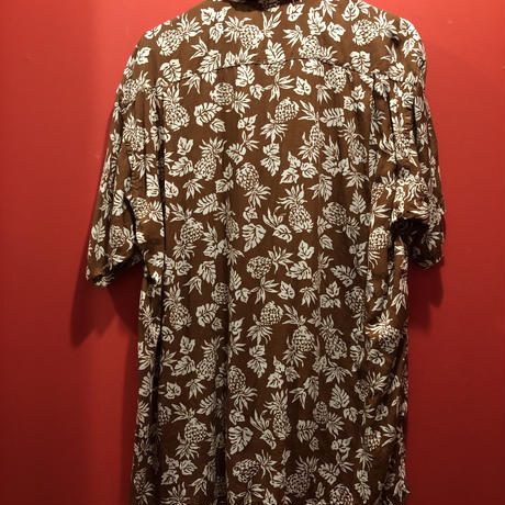 【USED 古着】CHAPS RALPH LAUREN パイナップル柄アロハシャツ used0003