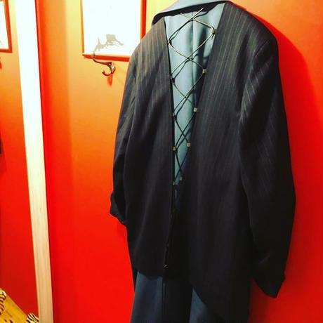 バック編み上げオーバーサイズコート