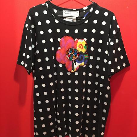 【USED 古着】総柄水玉&フラワーパッチTシャツ 1482901252-49