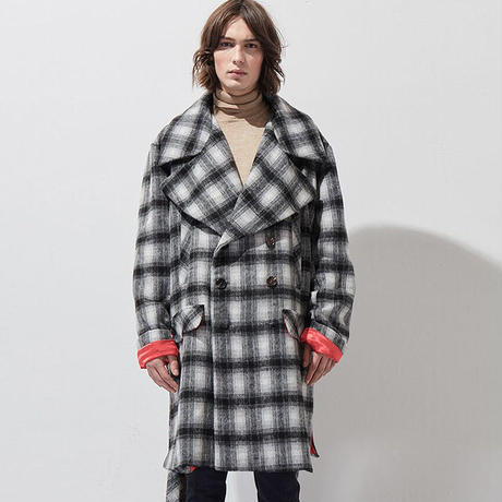 【MIXSEVEN】Oversized large lapel woolen coat  A6W16