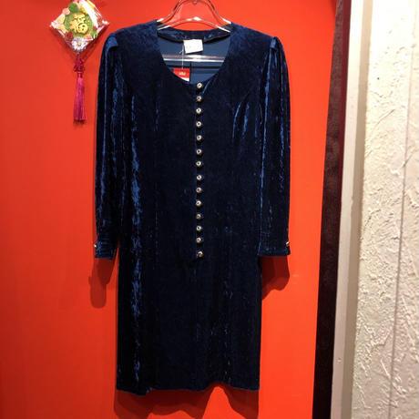 【USED 古着】80年代パフスリーブベルベットドレス AM15295106
