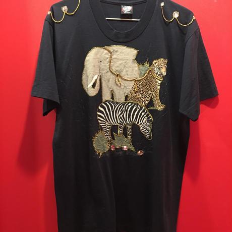 【USED 古着】ハンドメイドアニマル柄Tシャツ 1482901252-13