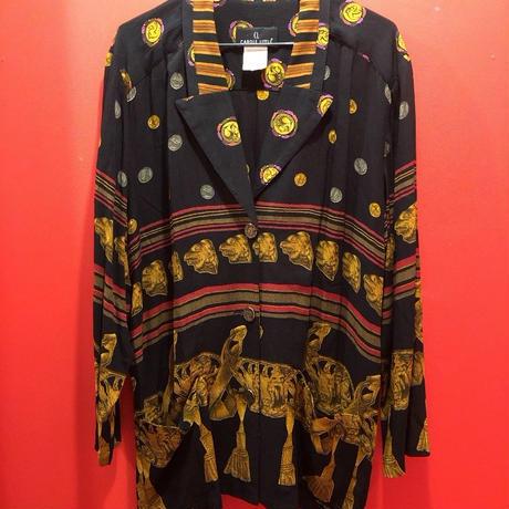 【USED 古着】バロック柄プリントテーラードカラーシャツジャケット 1482901252-1