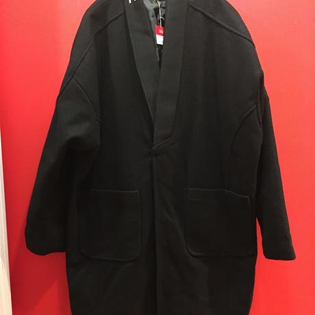 リブ襟 オーバーサイズウールコート tb-190918-3