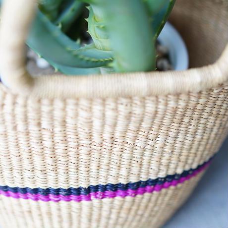<CLOUDY×gui>Aloe basket set(pink×navy)