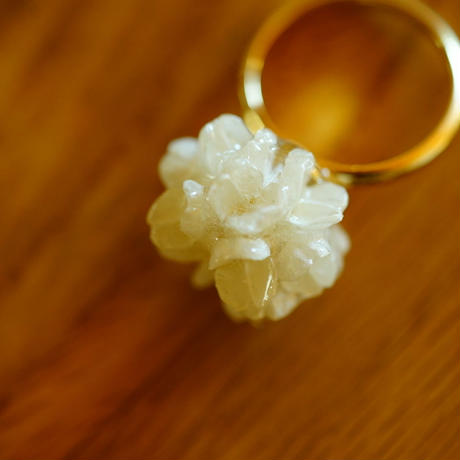 "【ivory series】Flower Ring ""flower cone"""