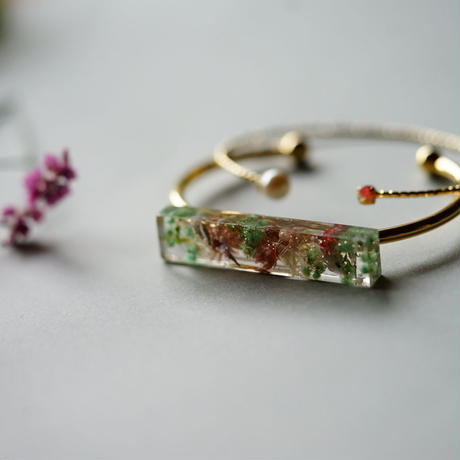 "【Summer Museum】bangle ""Sheer green"""