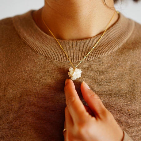 """【ivory series】Flower Necklace """"flower cone"""""""