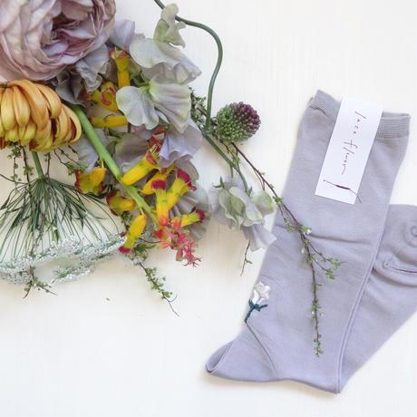 <laceflowersocks×guiflower>SOCKS  SET(Peace beige)
