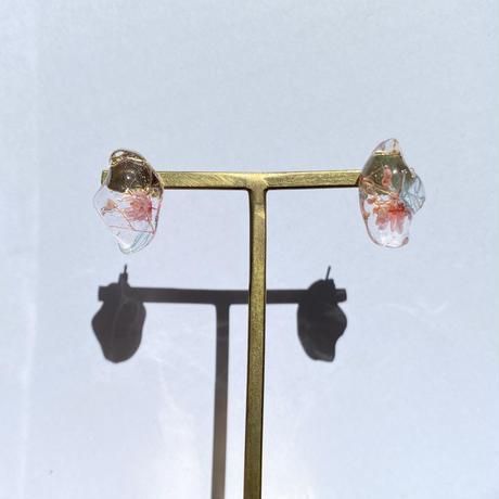 【bijou series】bijou pierce (flamingo pink)