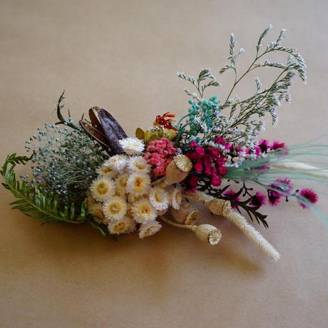 "【Summer Museum】dryflower hair piece ""turquoise"""
