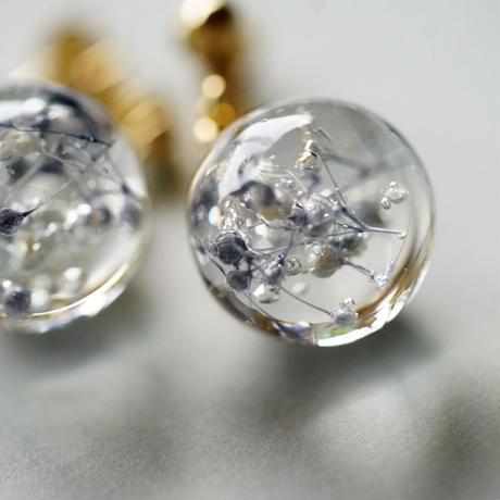 "【Summer Museum】cube earrings""SKY"""