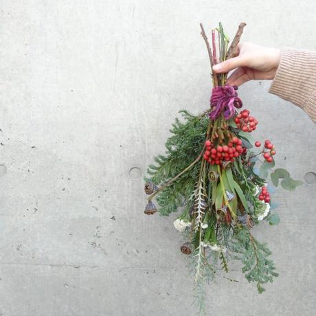 【Instagram LIVE workshop】christmas swag 作り  花材セット(11月28日土曜日21:00~)