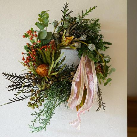 《gui christmas》french ribbon  wreath  M