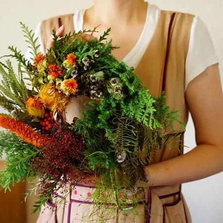 9月28日(土)10:00~「秋の草花のリースのワークショップ」WSチケット(6500円)