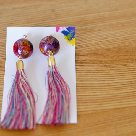 "【Summer Museum】tassel pierce ""牡丹色"""