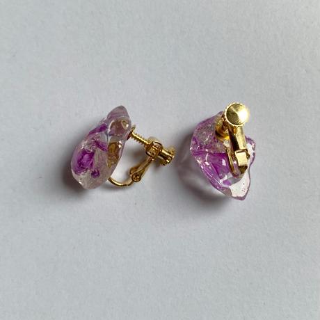 【bijou series】bijou earrings (pure purple)