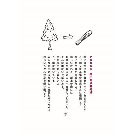 ありがとうが溢れる割り箸 利休箸21cm 中身のみ 100膳(1膳12円税抜)
