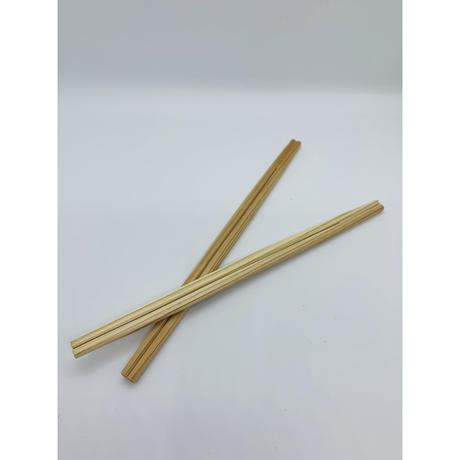 郡上割り箸 利休箸21cm 白・茶(混)100膳(1膳10円)