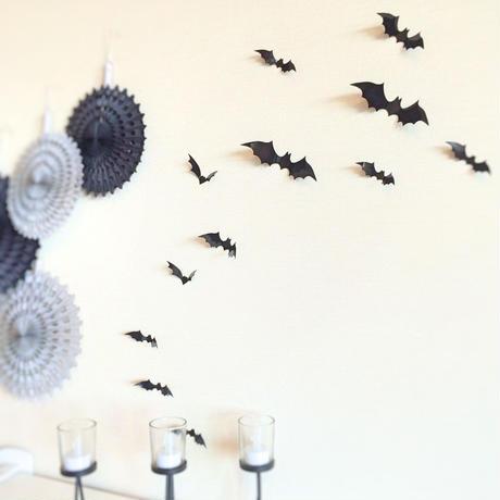【メール便】ハロウィン 3DウォールステッカーBAT(Sサイズ12ピース)