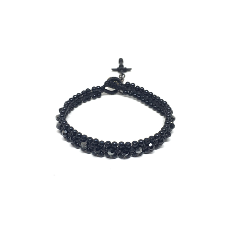 【BLACK COLLECTION】gunda<ガンダ >BUBBLE SV NERO BRACELET[バブル SVネロブレスレット] LIMITED ITEMS[ 限定商品]
