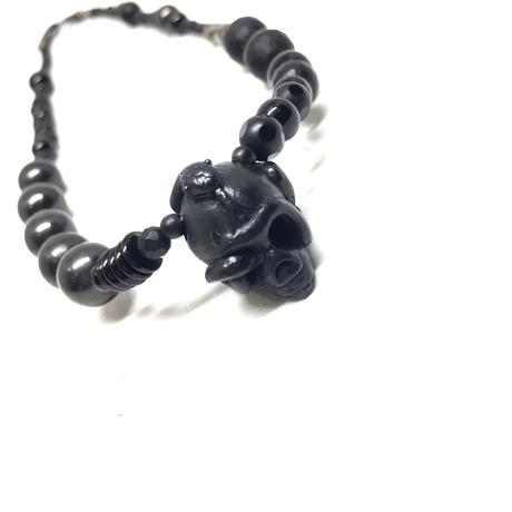 【BLACK COLLECTION】gunda<ガンダ>BLACK ROSALY NECKLACE[ブラックロザリーネックレス]