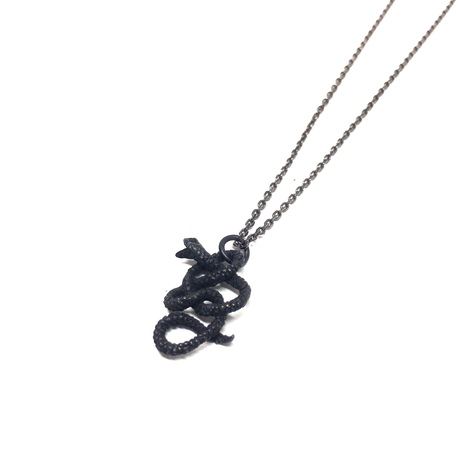 【BLACK COLLECTION】gunda<ガンダ>g NECKLACE/Small[ジーネックレス/スモール]