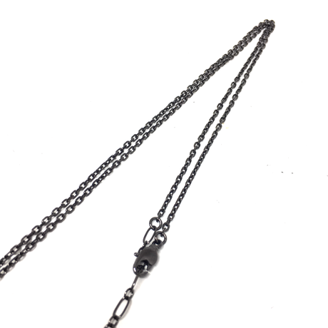 【BLACK COLLECTION】gunda<ガンダ>S.M.N/w/CROSS NECKLACE/Silver[S.M.N/w/クロスネックレス/シルバー]