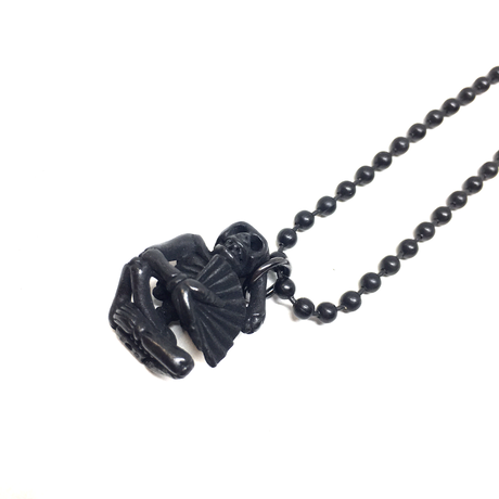 【BLACK COLLECTION】gunda<ガンダ>FLIP NECKLACE/BLACK[フリップネックレス/ブラック]