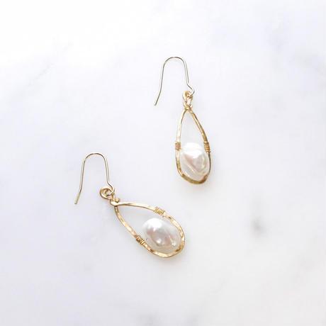 Tears Of Mermaid Earrings (Pearl)