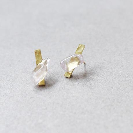 Brass & Kunzite Petit Earring