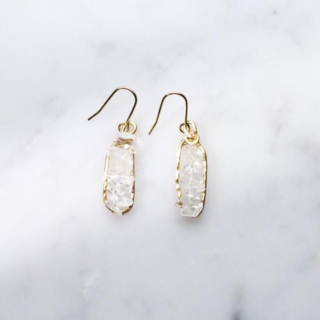 Petit-hoop Gemstone Earrings (crystal)